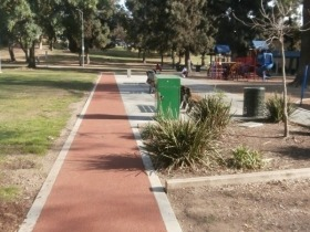 obregon park sidewalk project