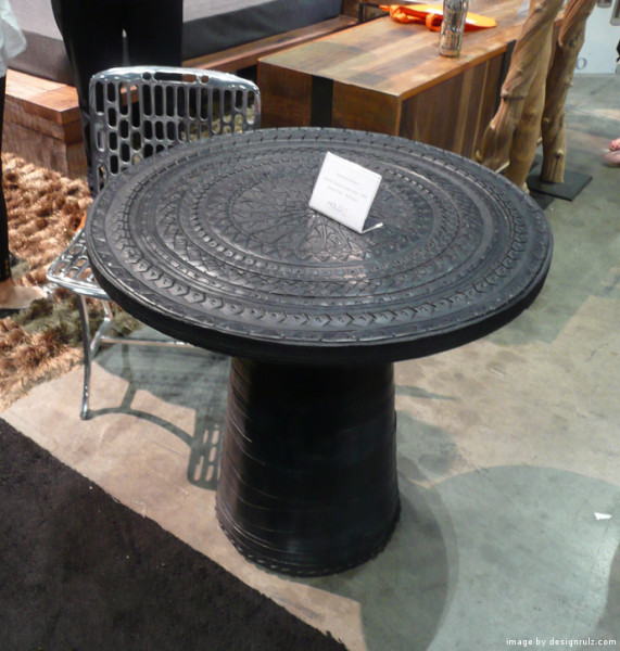 used tire recycling table