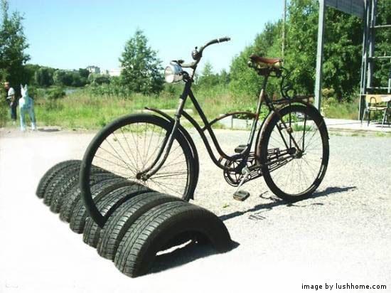 used tire bike rack