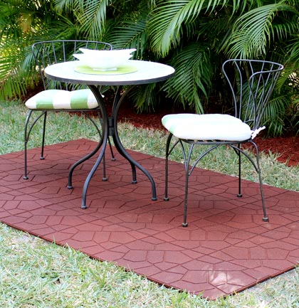 recycled rubber patio