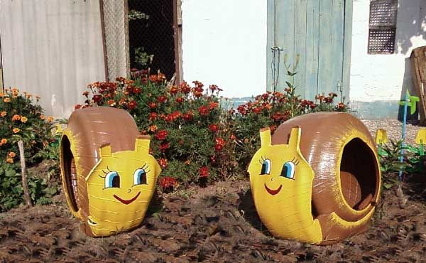 Rubber-garden-snails-from-tires