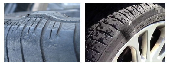 dangerous  tire bubbles tire deformity faq