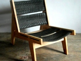 recycled car tire chair